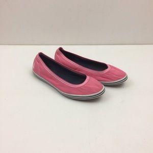 Nautica Shoes 9 Flats Pink, Canvas Upper Slip Ons